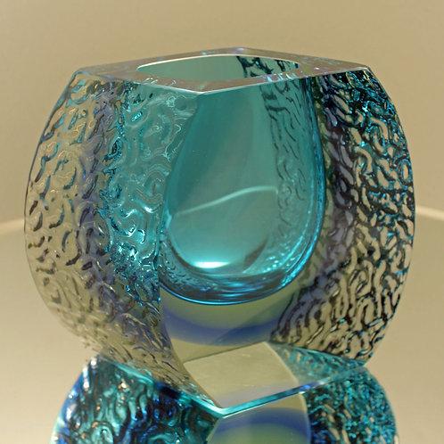 Venetian Glass Vase, Mandruzzato, Murano