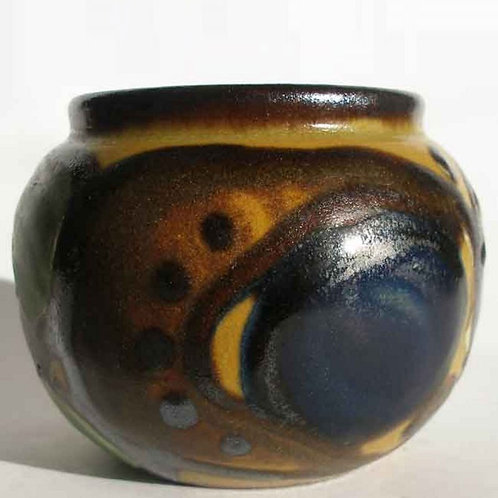 Art Nouveau Miniature Vase, Herman Kahler, Denmark