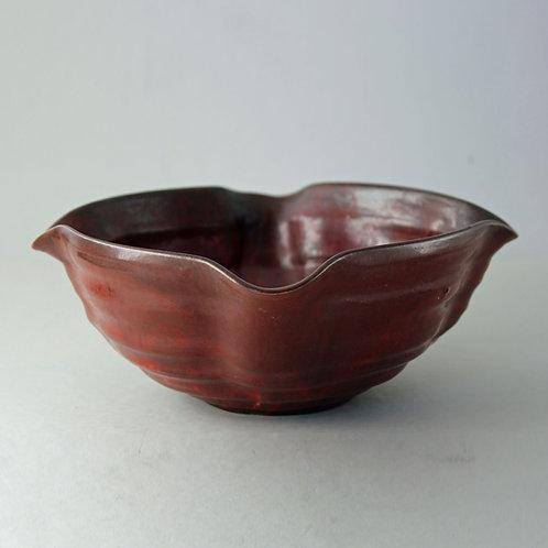 Michael Andersen, Denmark.1930's Oxblood Stoneware Bowl