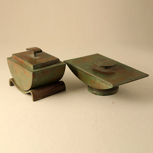 Art Deco Bronze Desk Set, Sune Backstrom, Sweden