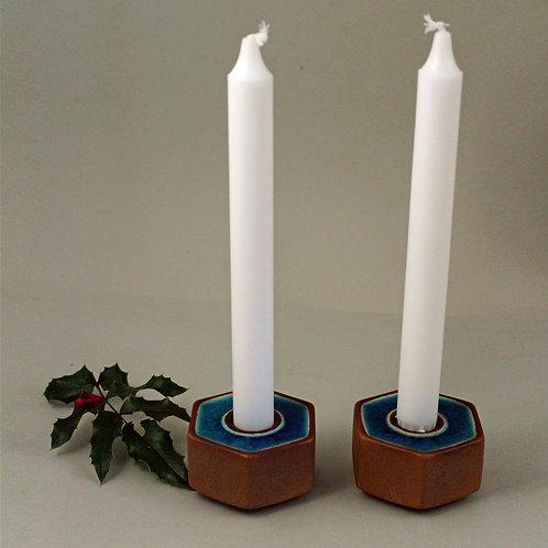 Pair of Candlesticks, Soholm, Denmark