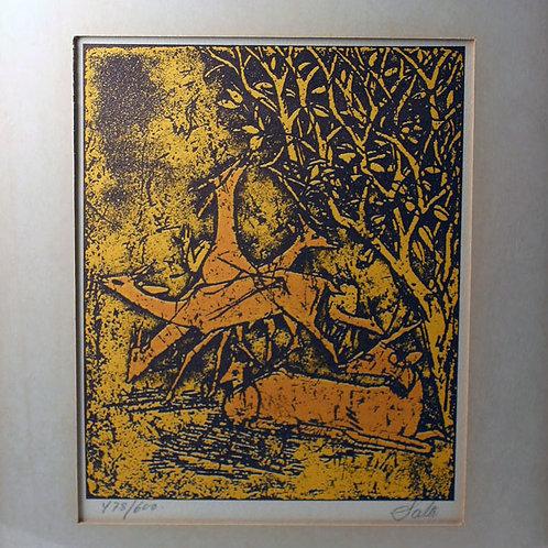 Axel Salto, Denmark. Signed Original Litography