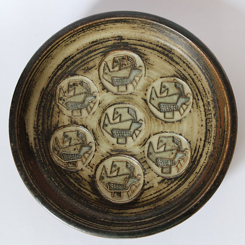 Stoneware Bowl, Jorgen Mogensen, Royal Copenhagen