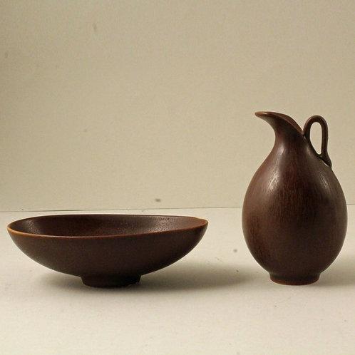 Berndt Friberg Small Stoneware Bowl and Jug, Gustavsberg