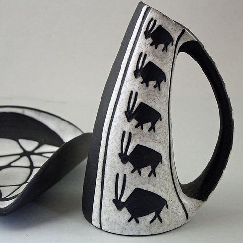 Marianne Starck for Michael Andersen, Denmark. Tribal  Vase