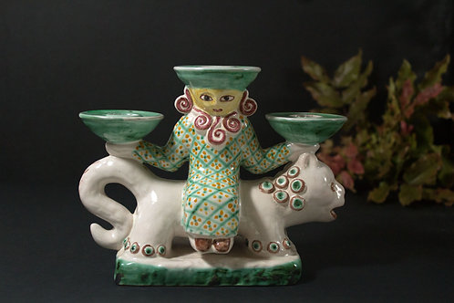 Gertrud Kudielka, L. Hjorth, Denmark  Candlestick Figurine