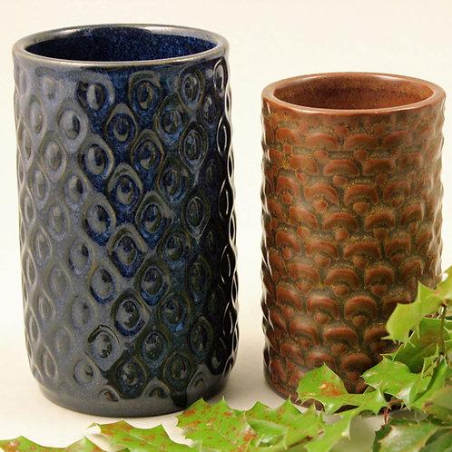 L. Hjorth, Denmark. Mid Century Stoneware Vase
