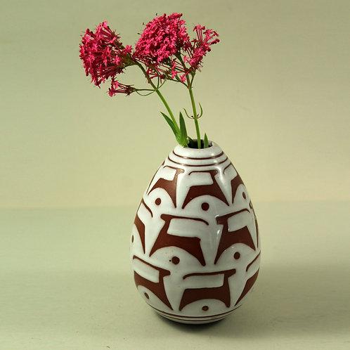 Marianne Starck, Michael Andersen, Denmark. Rare Tribal, Vase