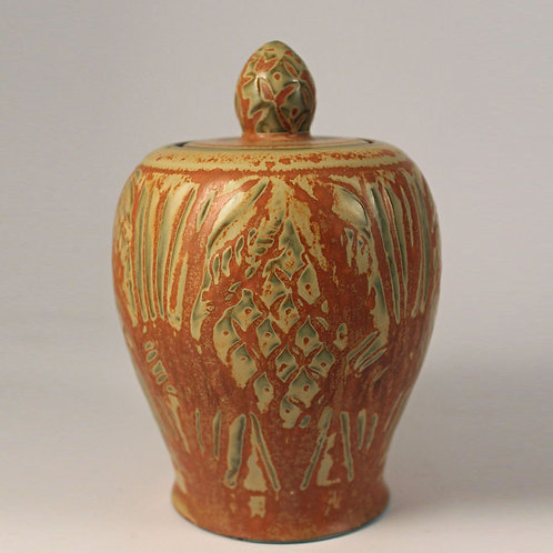 Lidded Jar, Cathinka Olsen, Bing and Grondahl