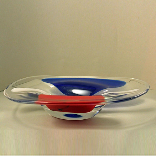 Art Glass Bowl, Erik Hoglund for Chribska, Czechoslovakia