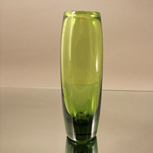 Per Lutken, Holmegaard:May Green Vase, 1950's
