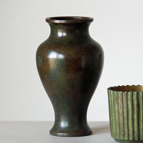Art Deco Bronze Vase, Argentor, Denmark
