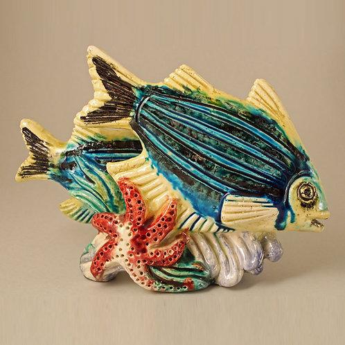 Art Deco Chamotte Fish Figurine, Gunnar Nylund