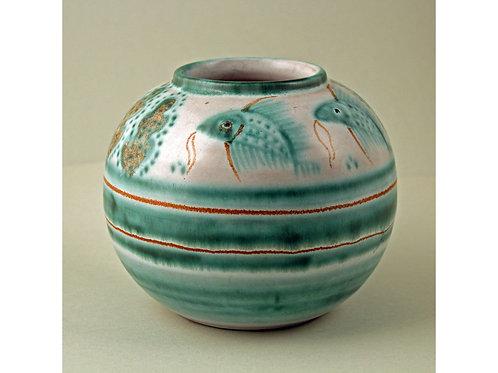 Painted Stoneware Vase, Gertrud Kudielka, L. Hjorth, Denmark