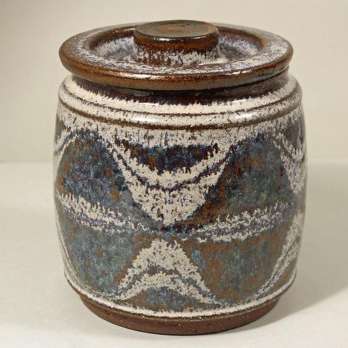 Lidded Stoneware Jar, Marianne Starck for Michael Andersen, Denmark