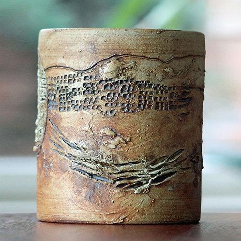 Conny Walther, Denmark. Studio Stoneware Vase