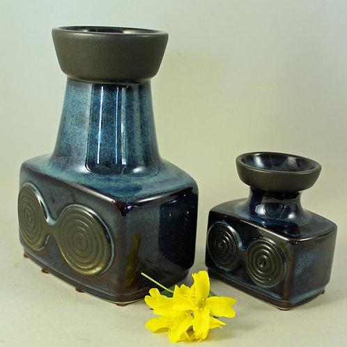 Einar Johansen, Soholm, Denmark. Set of Stoneware Vases SPIRAL Series