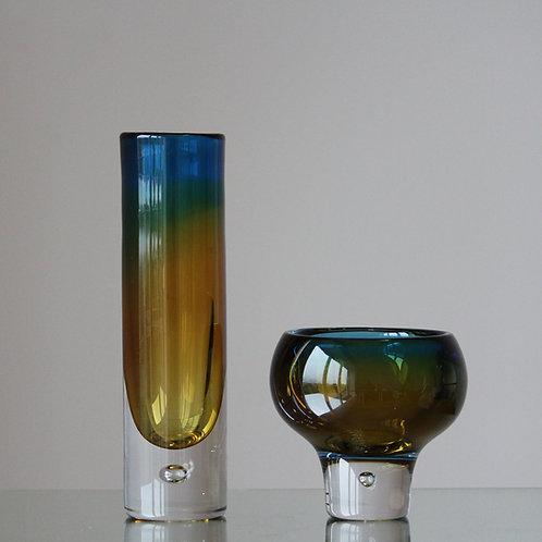 Vicke Lindstrand, Kosta, Sweden. Modernist Sommerso Vases
