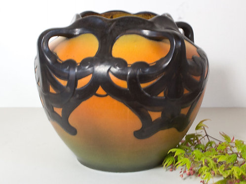 Large Art Nouveau Vase, Ipsen's Enke, Denmark