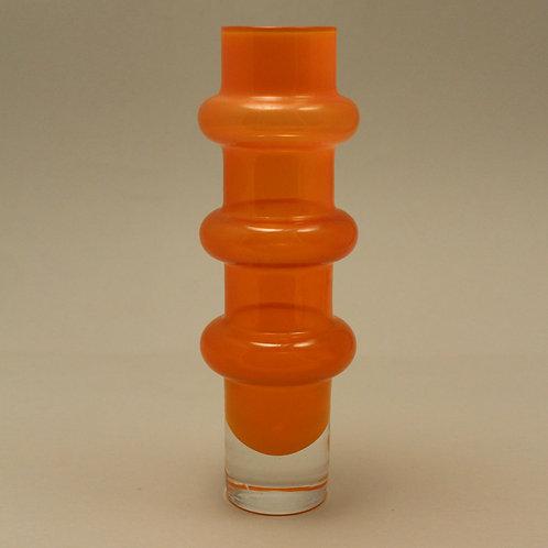 Bo Borgstrom Aseda, Sweden. Cased Art Glass Vase