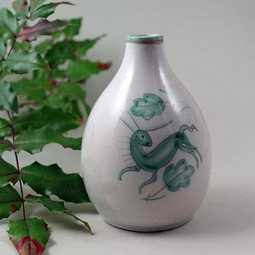 Small Painted Stoneware Vase, Gertrud Kudielka, L. Hjorth