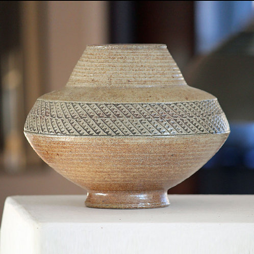 Unusual Large Stoneware Vase, Nils Kahler, Denmark