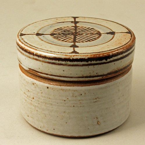 Ulla Hjorth for L. Hjorth, Denmark, Stoneware Lidded Bowl