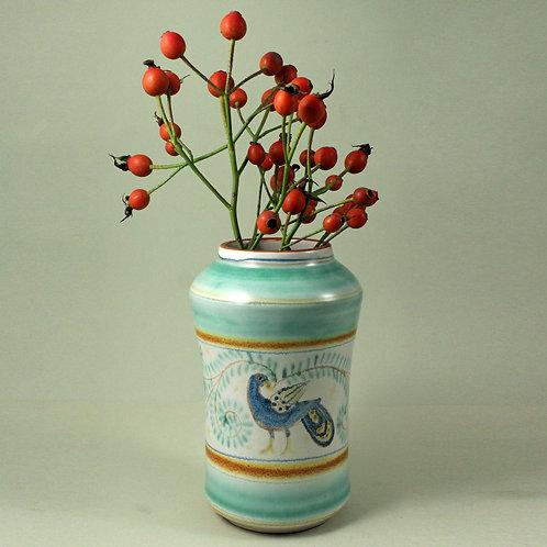 Gertrud Kudielka, L. Hjorth, Denmark. Hand-Painted Stoneware Vase,