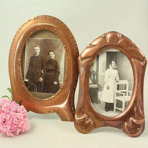 Pair of Danish Antique Copper Photo Frames