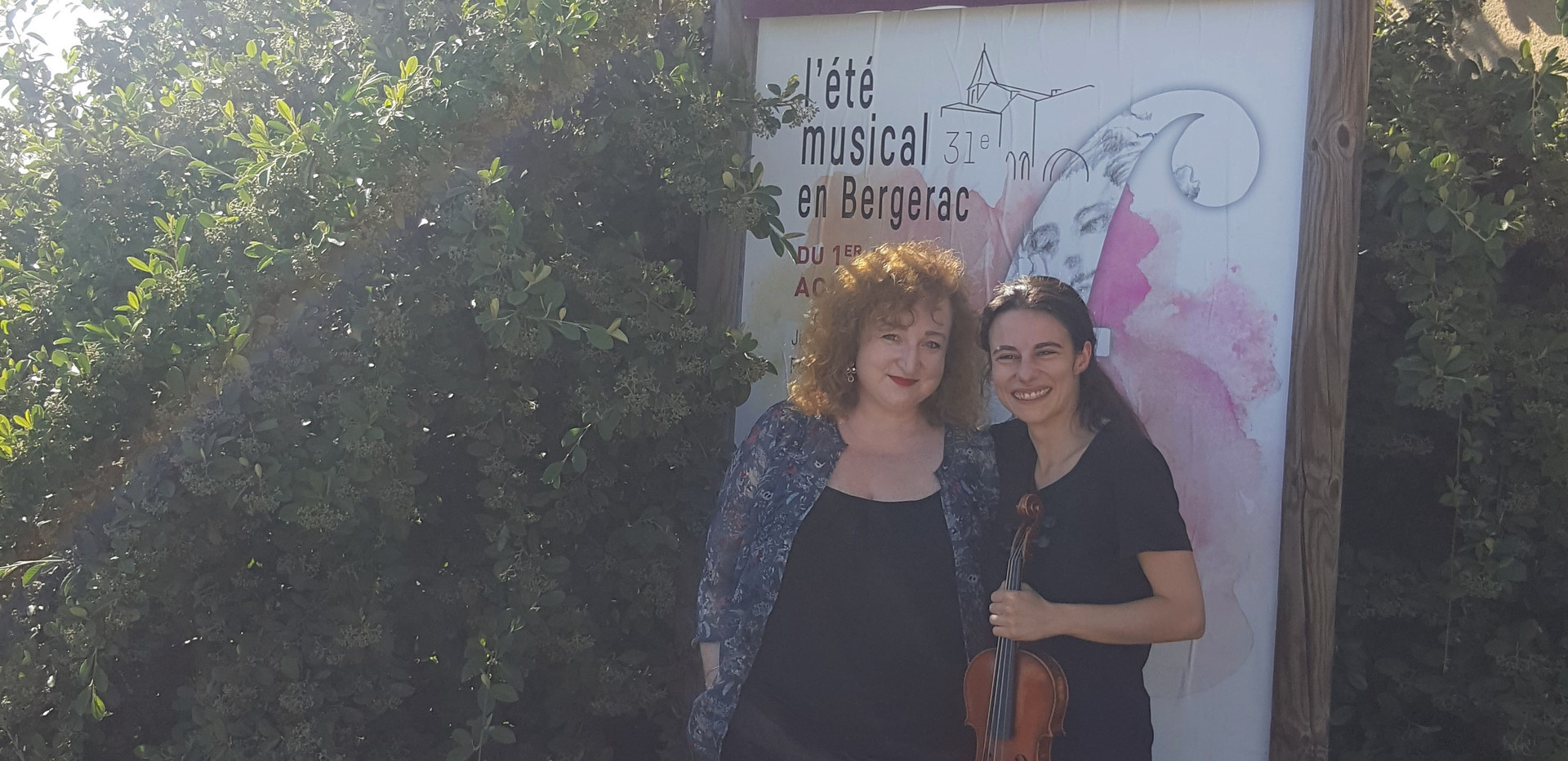 Louise Chisson Tamara Atschba Festival l'Eté musical en Bergerac Esperus Academy