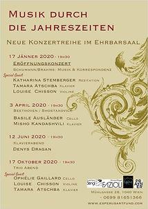 Musik Durch die Jahreszeiten neue Konzertreihe im Ehrbarsaal 2020 Chisson Atschba Ophélie Gaillard Esperus