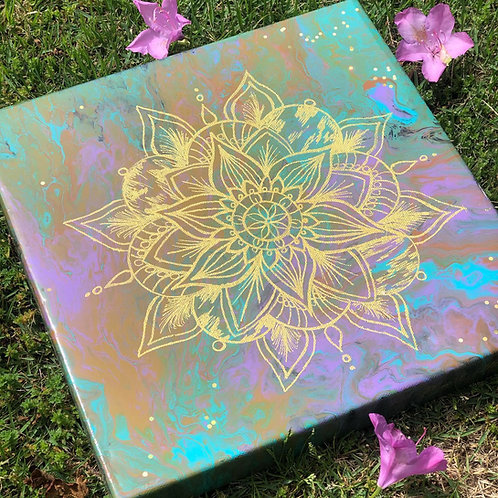Fluid Mandala Painting
