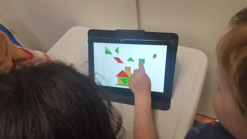 Geometric designs on tablets