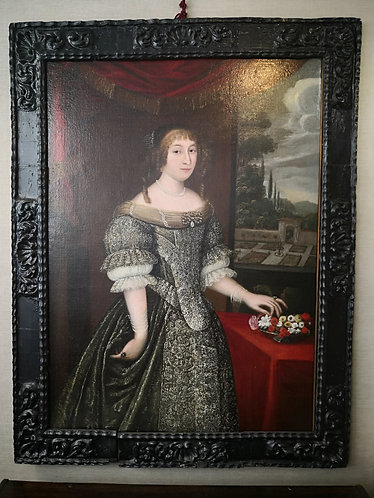 Portrait d'Anne-Marie MARTINOZZI, princesse de Conti, XVIIe