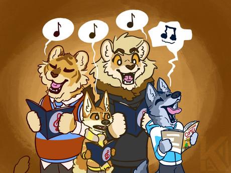 A Quartet of Friends, A Trio of Singers
