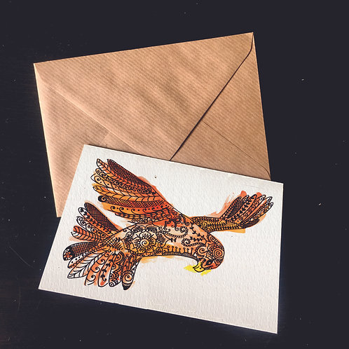 Kestrel | A6 greetings card | blank inside