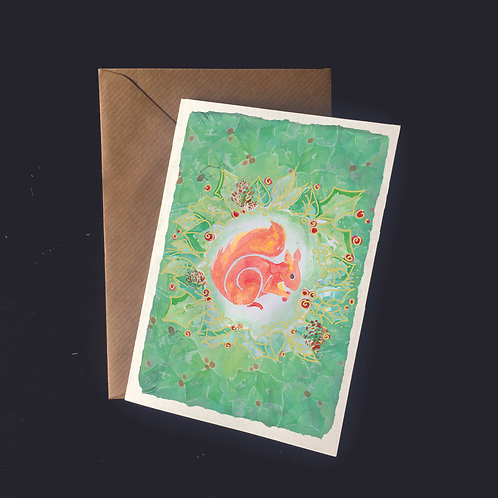 Red Squirrel | A6 greetings card | blank inside