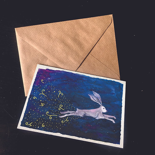 Snowshoe Hare | A6 greetings card | blank inside
