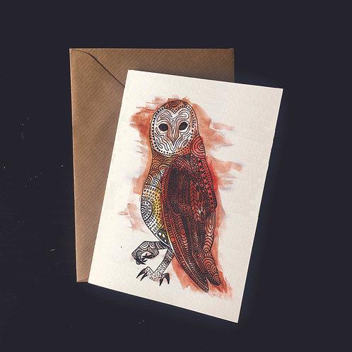 Owl | A6 greetings card | blank inside