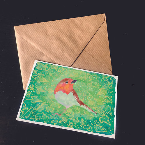 Robin | A6 greetings card | blank inside