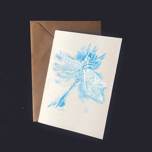 Dragonfly | A6 greetings card | blank inside