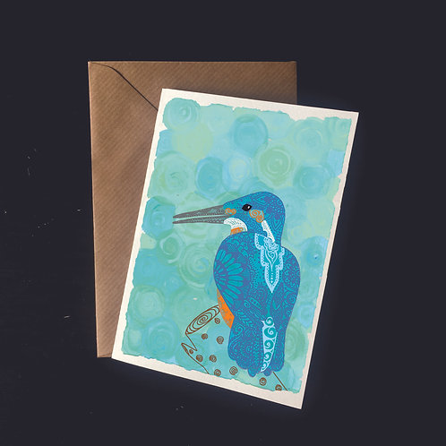 Kingfisher on Water | A6 greetings card | blank inside