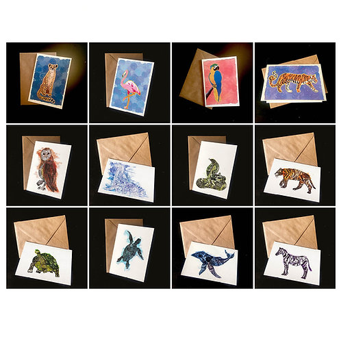 Group of 12 | choice of designs | A6 blank greetings cards