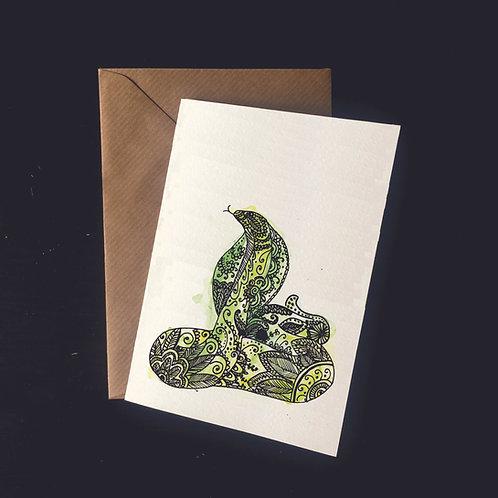 Snake | A6 greetings card | blank inside