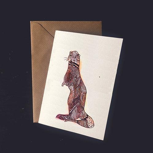 Otter | A6 greetings card | blank inside