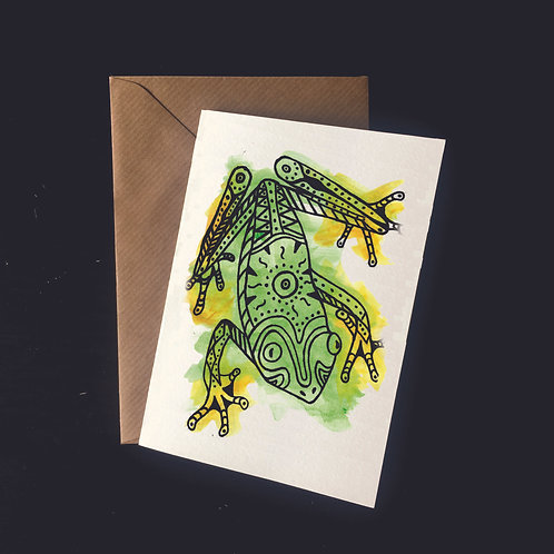 Frog | A6 greetings card | blank inside