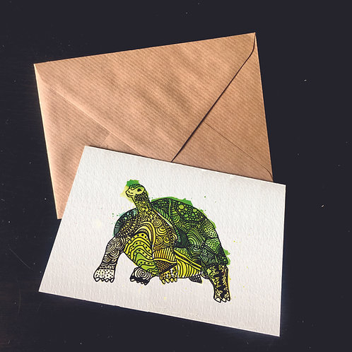 Tortoise | A6 greetings card | blank inside