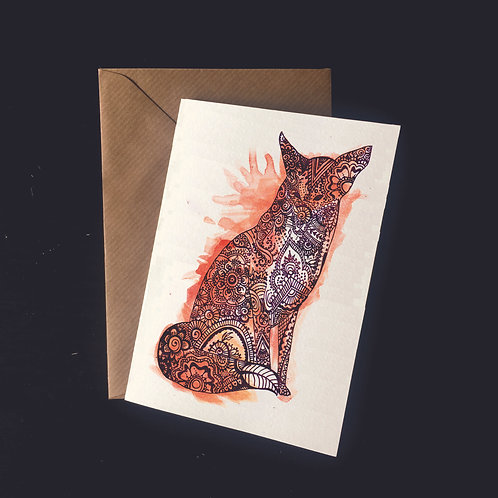 Fox | A6 greetings card | blank inside