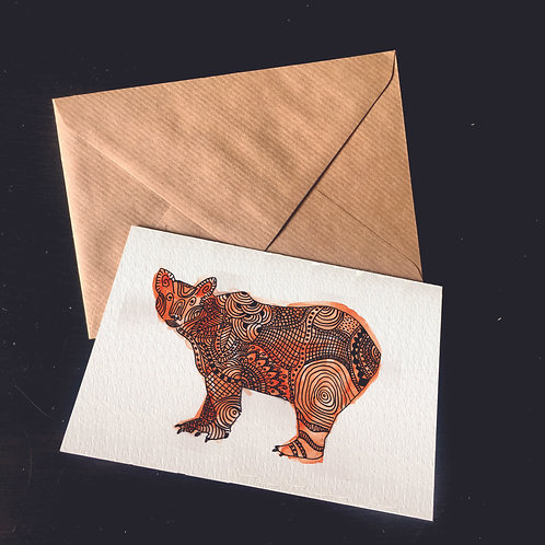 Bear | A6 greetings card | blank inside