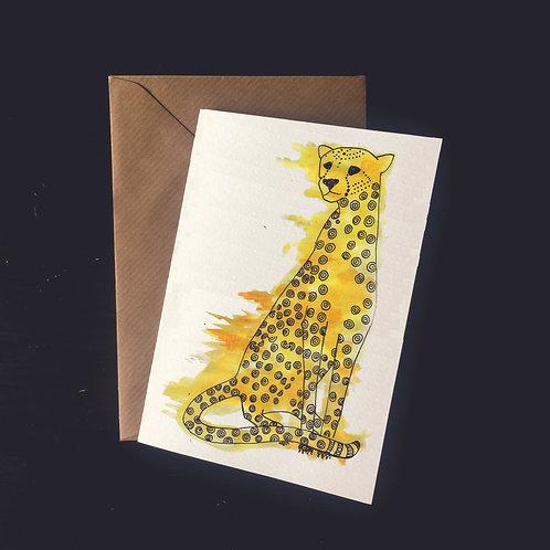 Cheetah | A6 greetings card | blank inside